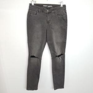 Old Navy Rockstar Mid-Rise faded black wash jeans